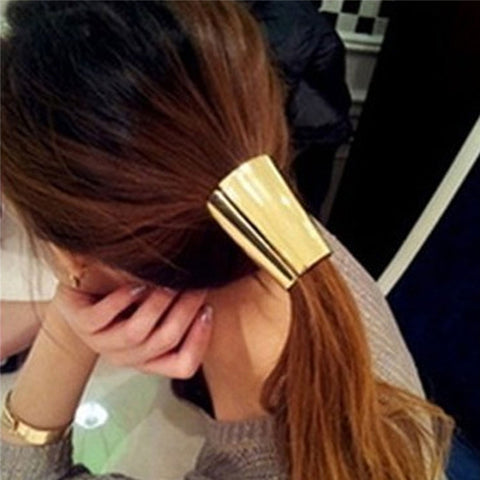 hair accessory - Fashion accessories ,clothing, jewelry, 2016 Lovely Jewelry Metal Big Gold/Silver Plated Elastic Ponytail Holder Women Hair Clip for lady girl Hair Ring accessories - clothing, Gorgeous things online - gorgeous things online