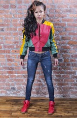 Gina G Edition Leather Bomber