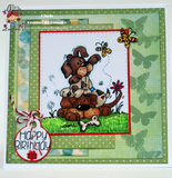 Cute Puppy Pile Digi Stamps clip art illustration from www.bugaboostamps.com