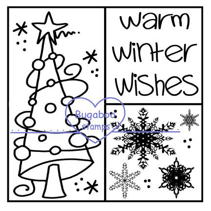 Digi stamps,3 square tree,Bugaboo Stamps,