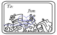 Digi stamps,4 snowmen tag,Bugaboo Stamps,