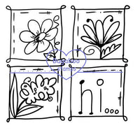 Digi stamps,4 square floral,Bugaboo Stamps,