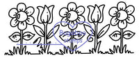 Digi stamps, 5 flowers,Bugaboo Stamps,