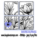 Bugaboo Stamps Tulip block digi stamp, clip , illustration