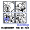 4 block tulip square digi stamp
