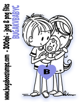 Baby Couple Digi stamps, clip art, illustrations from Bugaboo Stamps