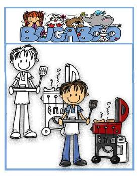BBQing Digi stamps, clip art, illustrations from Bugaboo Stamps