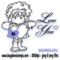 Love Angel Digi stamps, clip art, illustrations from Bugaboo Stamps