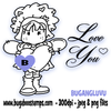 Bugaboo Angel I love You Digi Stamp