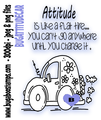 Attitude car digi stamp, clip art, illustration from Bugaboo