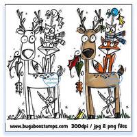Digi stamps,Autumn Critter Stack 01,Bugaboo Stamps,