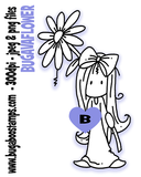 Ava Flower image. Digi stamps, clip art, coloring and illustrations from Bugaboo Stamps.