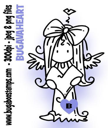 Digi Stamps Ava Heart. Great for many occasions! Images, Digi stamps, clip art, coloring pages and illustrations from Bugaboo Stamps