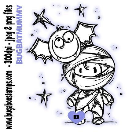 Digi stamp Cute Mummy Image from www.bugaboostamps.com