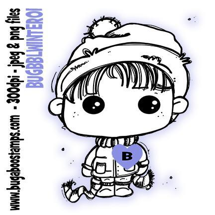 Digi stamps-cute bobble head winter kid-www.bugaboostamps.com