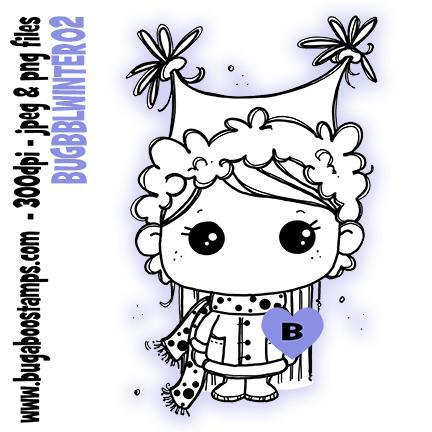 Digi Stamp Bobble Head Winter Kid 02 image.www.bugaboostamps.com