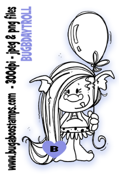 Birthday troll digi stamps,clip art, illustrations from Bugaboo