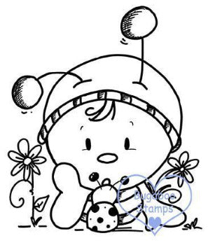 Digi stamps,BUGBEE02 bugaboo bee 02,Bugaboo Stamps,