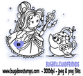 A beautiful Belle digi stamp, clip art, illustration from Bugaboo