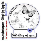 Butterfly Globe Images, Digi stamps, clip art, coloring pages and illustrations from Bugaboo Stamps