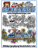 Digi stamps,BUGBIRDTRIOSUMMER bird trio summer,Bugaboo Stamps,