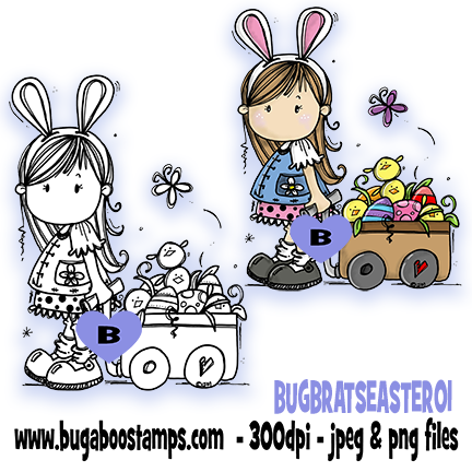Digi Singles,*New for MARCH*,SALES,BUGBRATSEASTER01,Bugaboo Stamps,