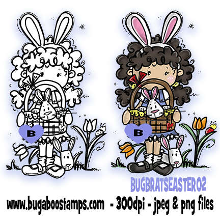 Digi stamps,clipart,Bugaboo Brats Easter 02,Bugaboo Stamps,