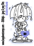 boy umbrella spring digi stamps, clip art, illustrations from Bugaboo