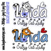 Cat Lady Linda 02 Digi Stamp