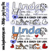 Cat Lady Linda Digi Stamp