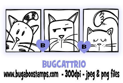 digi stamps cat trio blocks from Bugaboo stamps