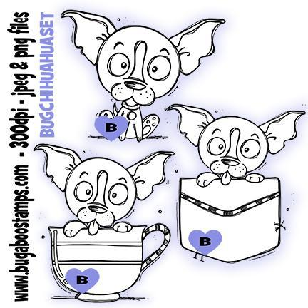 Digi stamps-Cute chihuahua puppy image set-www.bugaboostamps.com