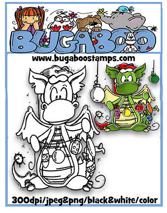 Digi stamps,BUGCLYDEXMAS01 clydes Christmas 01,Bugaboo Stamps,