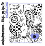 Birthday Balloons coloring page  Digi stamps, Images, clip art, illustrations from Bugaboo Stamps