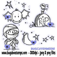Digi Stamps,Cute Halloween Set 1,Bugaboo Stamps,