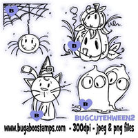 Digi Stamps,Cute Halloween Set 2,Bugaboo Stamps,