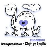 sweet dinosaur image, Digi stamps, clip art, illustrations from Bugaboo Stamps
