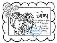 Word art/ Sentiments,Digi Singles,BUGFIBABYSENT baby sentiment,Bugaboo Stamps,