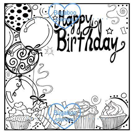 Word art/ Sentiments,Digi Singles,BUGFIBDAY frame it birthday,Bugaboo Stamps,