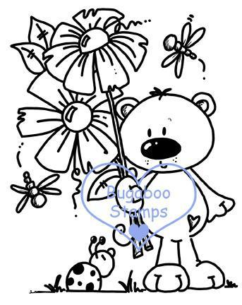 Digi stamps,BUGFLOWERTEDDY flower teddy,Bugaboo Stamps,