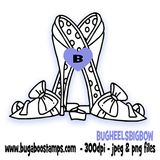 Big Bow Heels Digi Stamps