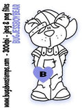 Cute bear digi stamp,clip art, illustration from Bugaboo Stamps