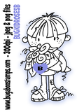 boy with roses digi stamps, clip art, illustrations from Bugaboo