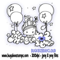 digi stamps,kidz birthday balloon cloud,Bugaboo Stamps
