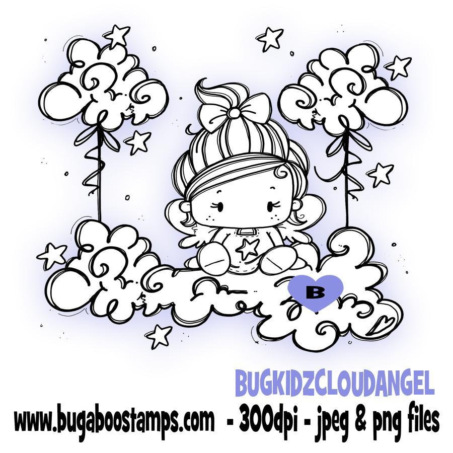 digi stamps,kidz cloud angel,Bugaboo Stamps