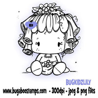 Digi Stamps, Cute Girl Kidz Lily,Bugaboo Stamps