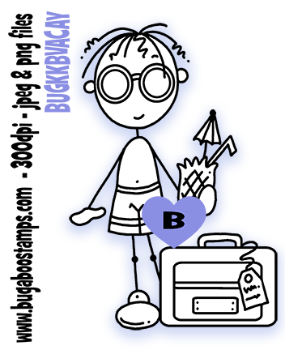 Knobby Knees, AKV, Stick person vacation image.  Digi stamps, clip art, illustrations from Bugaboo Stamps