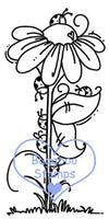 Ladybug Daisy Digi Stamp Images, clip art, coloring pages and illustrations from Bugaboo Stamps