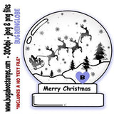 Reindeer Globe Images, Digi stamps, clip art, coloring pages and illustrations from Bugaboo Stamps