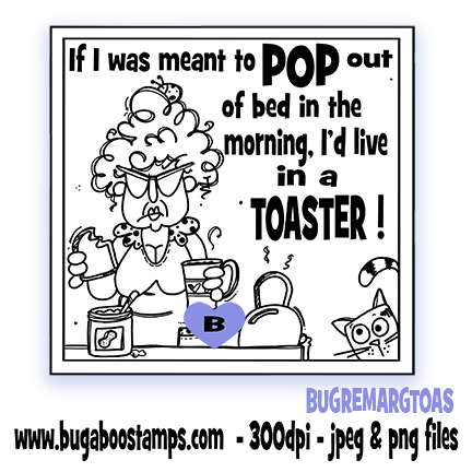 A funny digi stamp, clip art, illustration about mornings